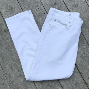 White Straight-leg Gap Jeans